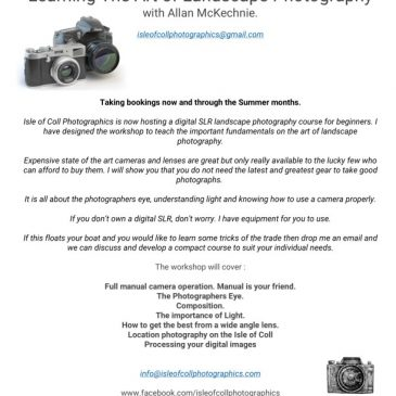 Landscape Photography courses start Today!